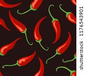 chilli pepper background. thai... | Shutterstock .eps vector #1176543901