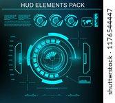 futuristic green virtual... | Shutterstock .eps vector #1176544447
