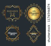 premium and elegance set frames | Shutterstock .eps vector #1176546874