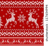 cristmas ornament  sweater with ... | Shutterstock .eps vector #117654994