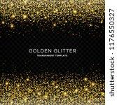 golden glitter  starlight... | Shutterstock .eps vector #1176550327