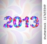 colorful happy new year 2013... | Shutterstock .eps vector #117655549