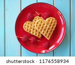 belgian waffles in shape of...   Shutterstock . vector #1176558934