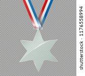 the glass star. reward. prize ... | Shutterstock .eps vector #1176558994