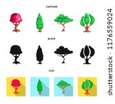 vector illustration of tree and ... | Shutterstock .eps vector #1176559024