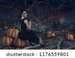 design of halloween woman...   Shutterstock . vector #1176559801