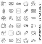 thin line vector icon set  ... | Shutterstock .eps vector #1176563071