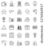 thin line vector icon set  ... | Shutterstock .eps vector #1176563917