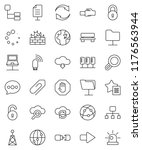 thin line vector icon set  ... | Shutterstock .eps vector #1176563944