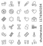thin line vector icon set  ... | Shutterstock .eps vector #1176565354