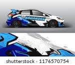 car wrap.  modern racing car... | Shutterstock .eps vector #1176570754