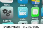 close up shot of radio app icon ...