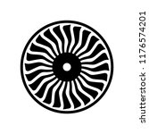 airplane  jet  turbofan blades | Shutterstock .eps vector #1176574201