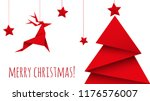 christmas tree origami isolated ... | Shutterstock .eps vector #1176576007