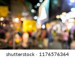 blurred crowds shopping of... | Shutterstock . vector #1176576364