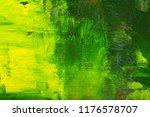 abstraction green yellow art... | Shutterstock . vector #1176578707