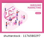 inbound marketing based... | Shutterstock .eps vector #1176580297