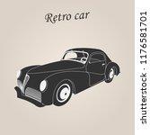 vintage car. retro car. classic ... | Shutterstock .eps vector #1176581701