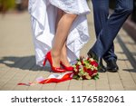wedding shoes and wedding... | Shutterstock . vector #1176582061