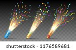 party poppers. confetti... | Shutterstock .eps vector #1176589681