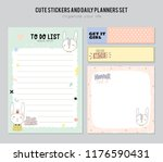 set of planners and to do lists ... | Shutterstock .eps vector #1176590431