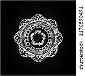 recycle icon inside chalkboard... | Shutterstock .eps vector #1176590491