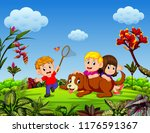 the children are playing with... | Shutterstock . vector #1176591367