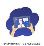 online medical diagnosis ... | Shutterstock .eps vector #1176598681