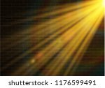 yellow glowing light explodes... | Shutterstock .eps vector #1176599491