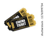 realistic cinema ticket icon in ... | Shutterstock .eps vector #1176599734