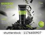 bamboo charcoal face wash ads... | Shutterstock .eps vector #1176600907