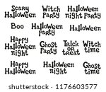 halloween phrases. handdrawn... | Shutterstock .eps vector #1176603577