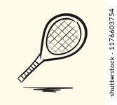 tennis racket. hand drawn... | Shutterstock .eps vector #1176603754