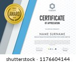 certificate template modern...   Shutterstock .eps vector #1176604144