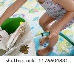 selective focus of a baby... | Shutterstock . vector #1176604831