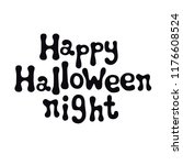 happy halloween night.... | Shutterstock .eps vector #1176608524