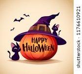 halloween pumpkin. jack o... | Shutterstock .eps vector #1176610921