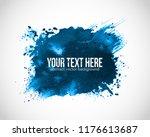 abstract blue grunge splash on... | Shutterstock .eps vector #1176613687