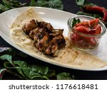 grilled chicken skewers    Shutterstock . vector #1176618481