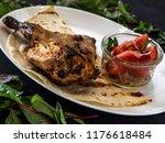 grilled chicken leg    Shutterstock . vector #1176618484
