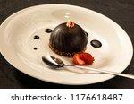 chocolate hemisphere cake    Shutterstock . vector #1176618487