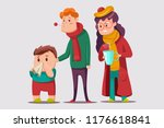 cold and flu vector cartoon... | Shutterstock .eps vector #1176618841