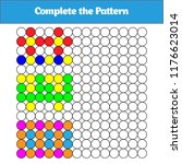 complete the pattern. education ... | Shutterstock .eps vector #1176623014