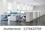 office space. open space....   Shutterstock . vector #1176623704
