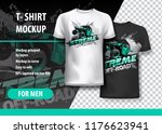 t shirt template  fully...   Shutterstock .eps vector #1176623941