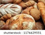 fresh baked various bread   Shutterstock . vector #1176629551