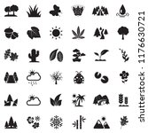 nature icons. black flat design.... | Shutterstock .eps vector #1176630721