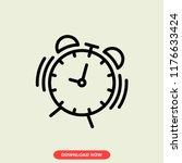 alarm concept line icon. alarm... | Shutterstock .eps vector #1176633424