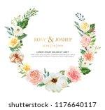 watercolor floral illustration... | Shutterstock . vector #1176640117