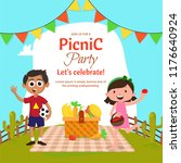 picnic with family or friends... | Shutterstock .eps vector #1176640924